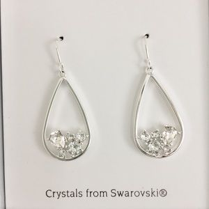 Swarovski Tear Drop Dangle Crystal Earrings